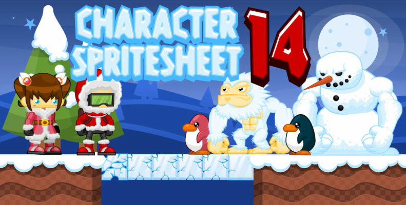 character sprite sheet snow ice