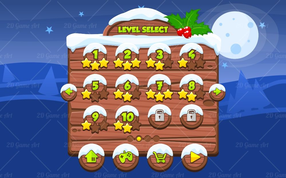 Christmas Game Gui  Game Art D