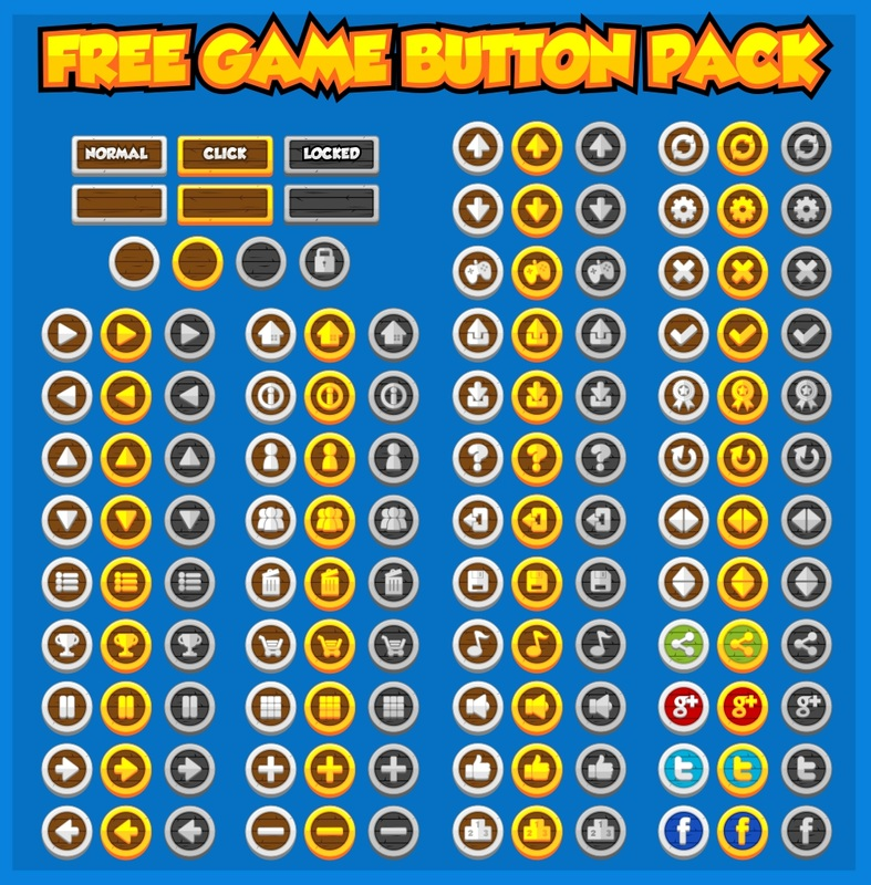 Free Medieval Game Button Pack - Game Art 2D