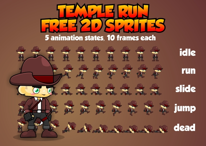 Temple Run - Free Sprites - Game Art 2D