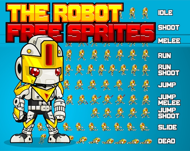 The Robot - Free Sprites - Game Art 2D