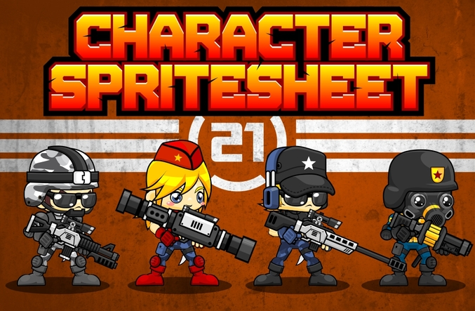 character sprite sheet shooter soldier metal slug war military swat sniper agent