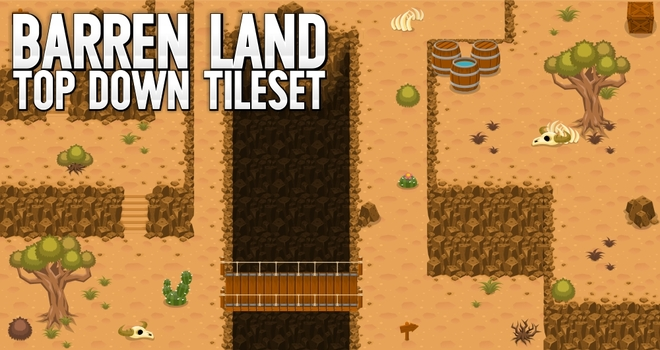 top down tileset map rpg desert
