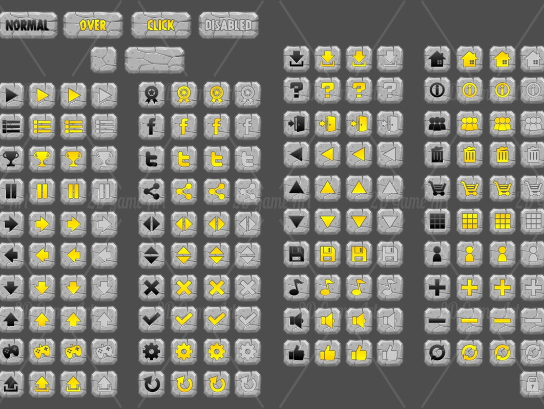 Stone Age - Game GUI - Game Art 2D