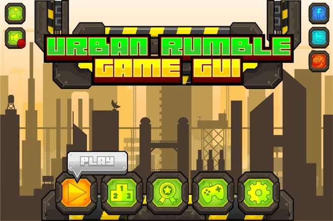 urban rumble fighting action game gui