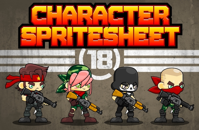 character sprite sheet shooter soldier metal slug war military