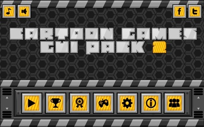 robot game gui set