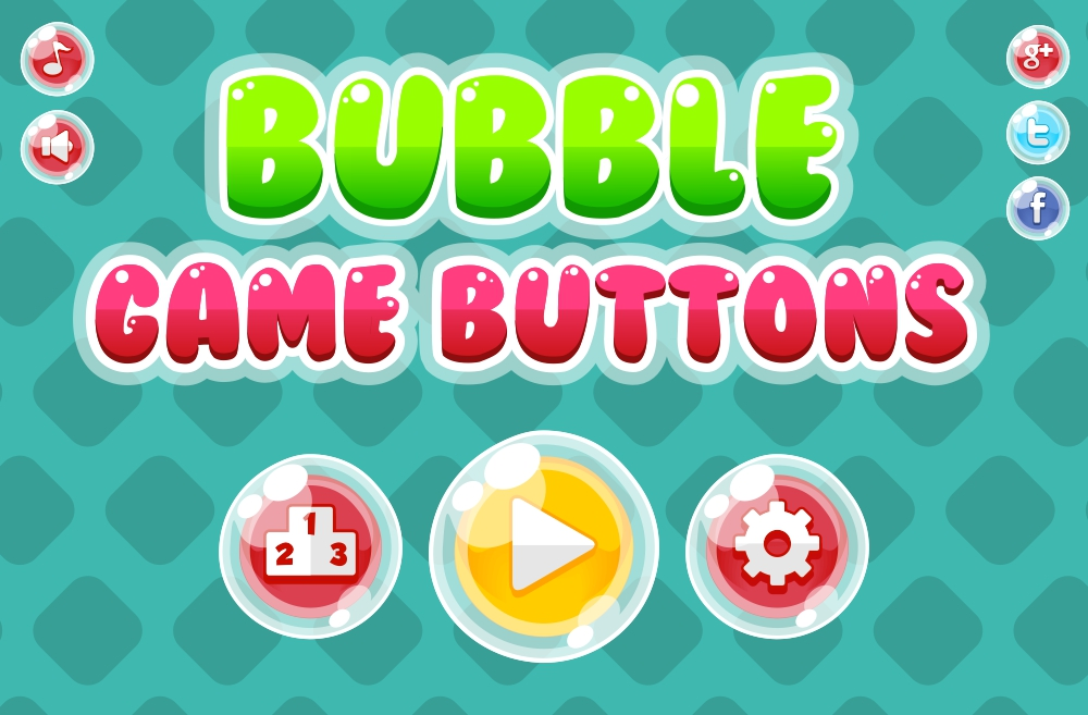 Free Bubble Game Button Pack - Game Art 2D