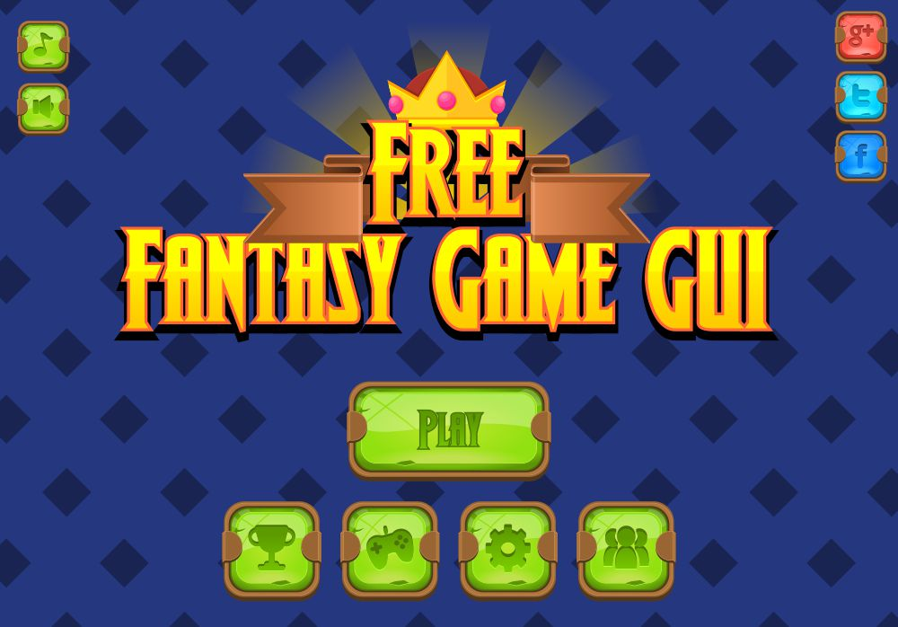 Free Fantasy Game GUI - Game Art 2D