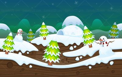 snowy christmas winter game background
