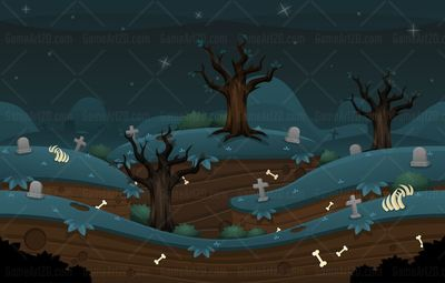 scary zombie graveyard game background