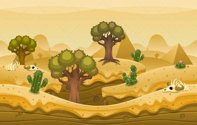 barren pyramid desert game background