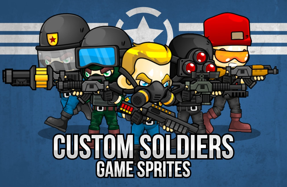 custom soldier game sprites