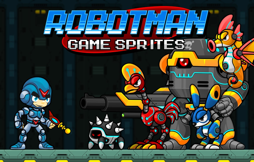 Robotman Game Sprites