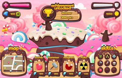 chocolate candy game gui