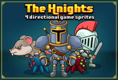Knight RPG game sprites