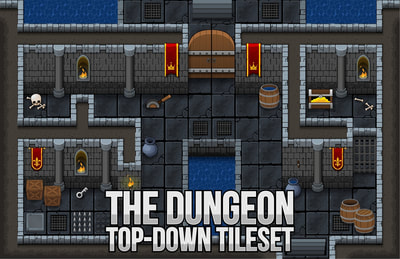 dungeon castle rpg tileset