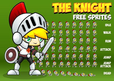 knight free game sprites
