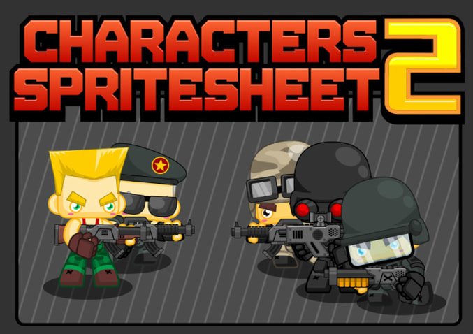 character sprite sheet soldier shooter