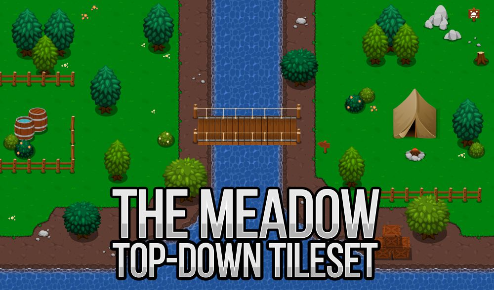 top down tileset fantasy meadow RPG